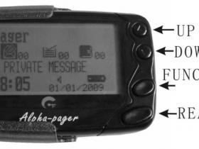 GP2009N系列寻呼机手动编程