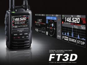YAESU FT3D -VHF / UHF 5 W C4FM / FM 蓝牙 手持式设备