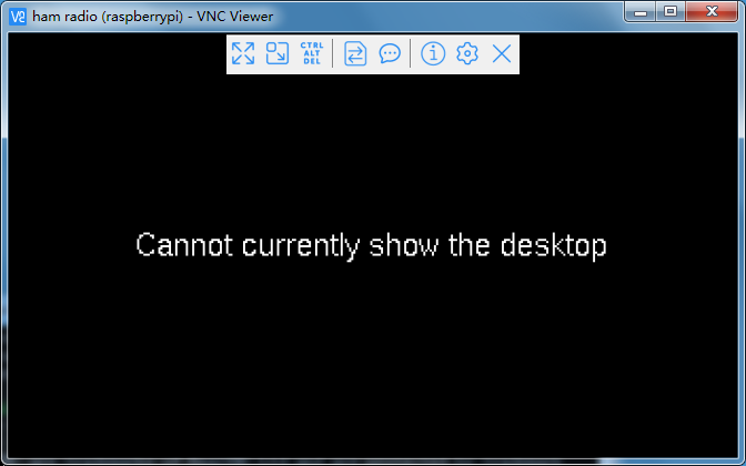 "树莓派显示""cannot currently show the desktop"""