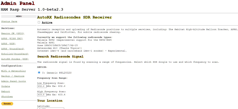 HAM树莓派服务器—支持APRS、Echolink、SVXLink、Beacon CW